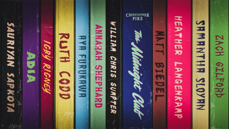 The Midnight Club cast names book covers
