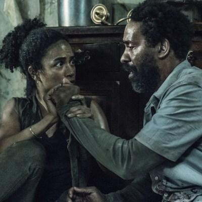Connie (Lauren Ridloff) and Virgil (Kevin Carroll) in The Walking Dead season 11