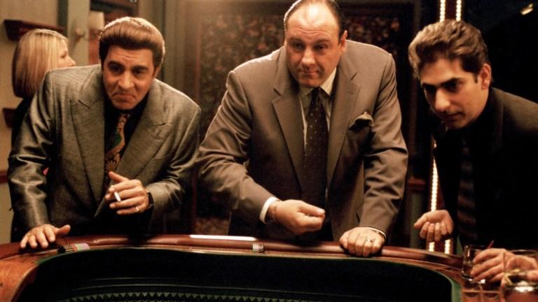 Silvio, Tony, and Christopher at the casino on The Sopranos