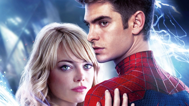 The Amazing Spider-Man 2: Emma Stone and Andrew Garfield.