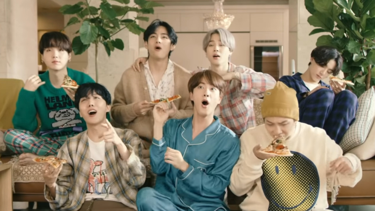 """The seven members of BTS goof off together in the music video for """"Life Goes On"""""""
