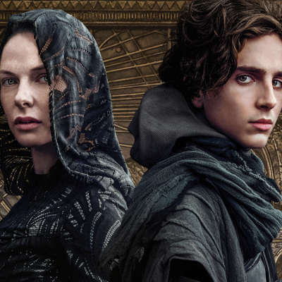 Rebecca Ferguson as Lady Jessica and Timothee Chalamet as Paul Atreides in Dune (2021)