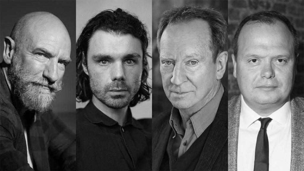 Reparto de House of the Dragon: Graham McTavish, Matthew Needham, Bill Patterson y Gavin Spokes.