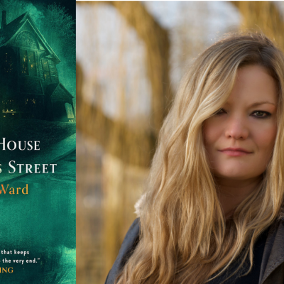 The cover for The Last House on Needless Street and a headshot of author Cat Ward