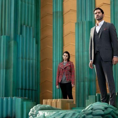 Brianna Hildebrand as Rory and Tom Ellis as her father work on their relationship.