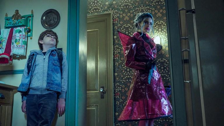 Winslow Fegley and Krysten Ritter in Netflix's Nightbooks