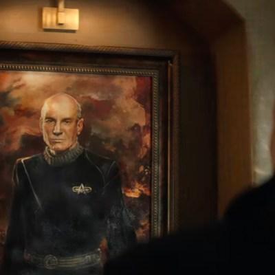 Jean-Luc looks at a portrait of himself in the Star Trek: Picard Season 2 trailer