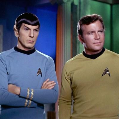 Spock and Kirk in Star Trek: The Original Series