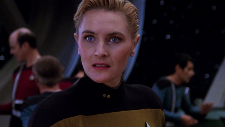Denise Crosby as Tasha Yar in Star Trek: The Next Generation