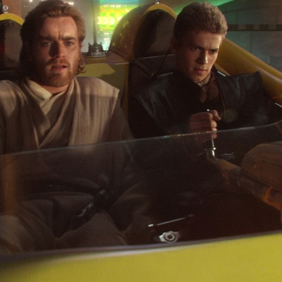 Star Wars: Attack of the Clones; Obi-Wan Kenobi and Anakin Skywalker.
