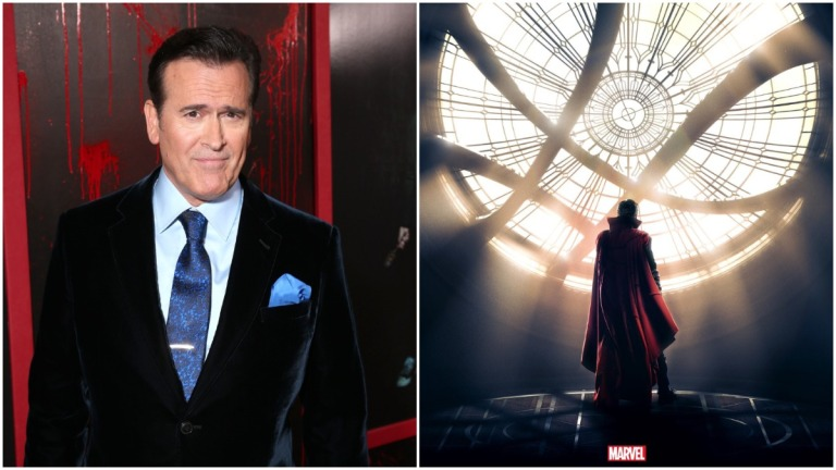 Bruce Campbell and Doctor STrange in the Multiverse of Madness
