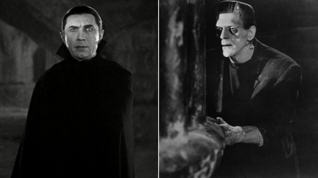 Dracula and Frankenstein's monster