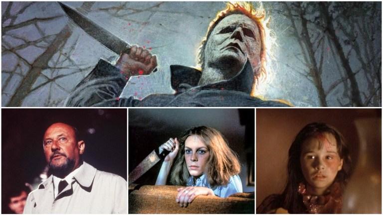 Michael Myers, Sam Loomis, Laurie Strode, and Jamie Lloyd in Halloween Movies