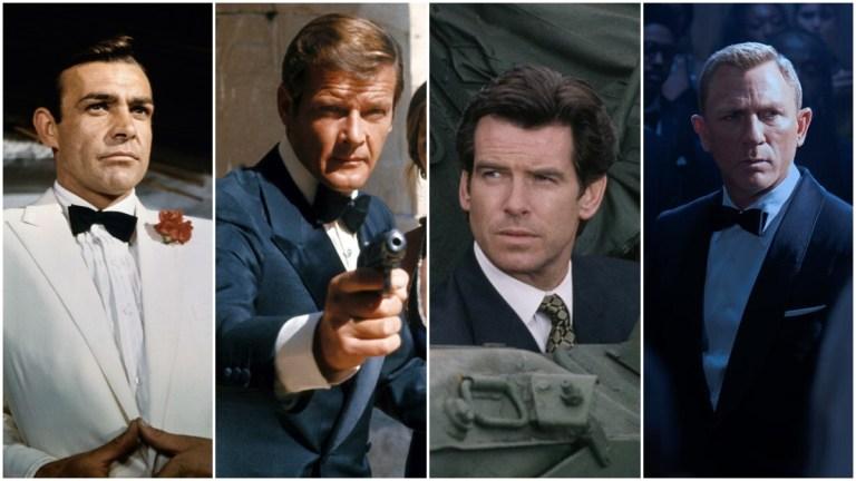 Ranked James Bond actors Sean Connery, Roger Moore, Pierce Brosnan, Daniel Craig