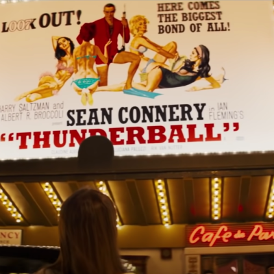 James Bond Thunderball poster in Last Night in Soho