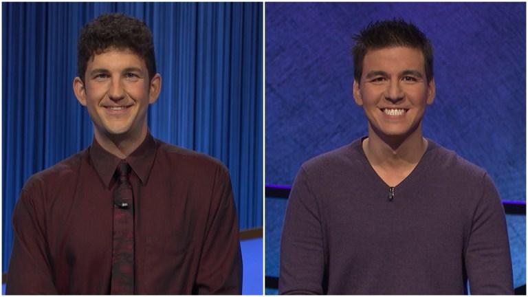Matt Amodio and James Holzhauer on Jeopardy!