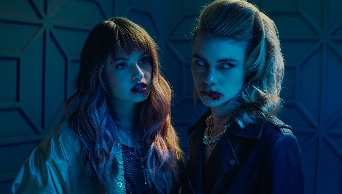 Lucy Fry and Debby Ryan in Night Teeth SciFi Thrill