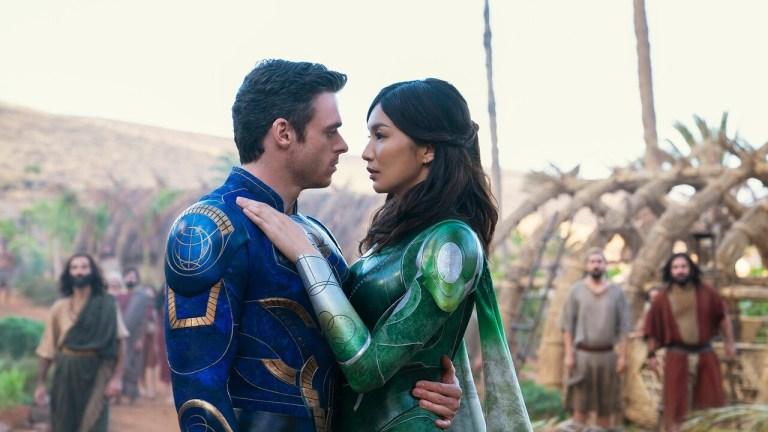 Richard Madden and Gemma Chan in Marvel's Eternals