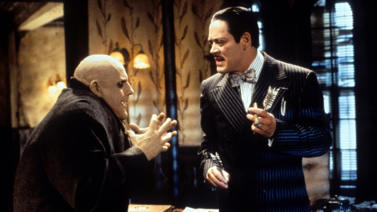 Uncle Fester and Gomez Addams in The Addams Family (1991)