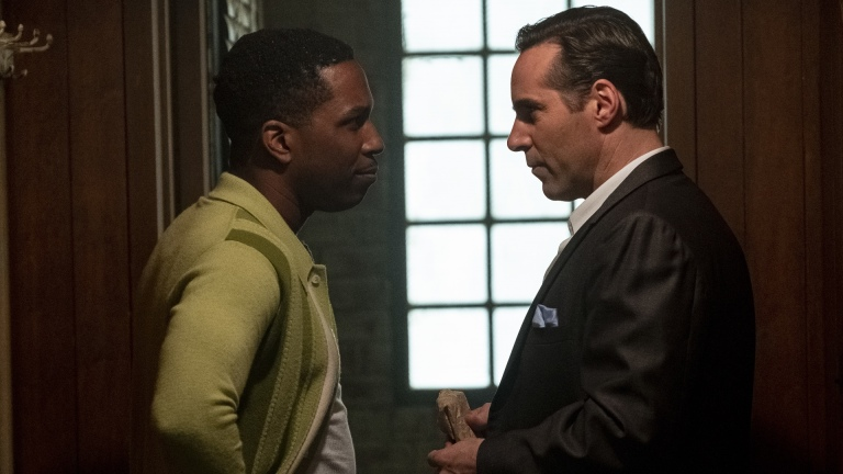 """LESLIE ODOM, JR. as Harold McBrayer and ALESSANDRO NIVOLA as Dickie Moltisanti in New Line Cinema and Home Box Office's mob drama """"THE MANY SAINTS OF NEWARK,"""" a Warner Bros. Pictures release."""